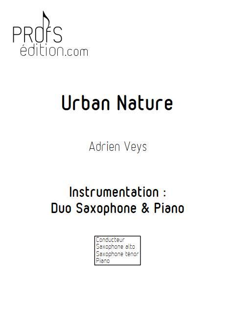 Urban Nature - Duo Saxophone Piano - VEYS A. - page de garde