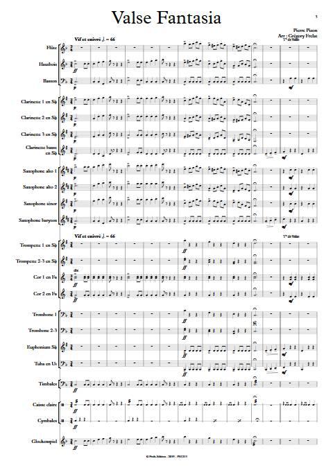 Valse Fantasia - Orchestre d'harmonie - PIZON P. - app.scorescoreTitle