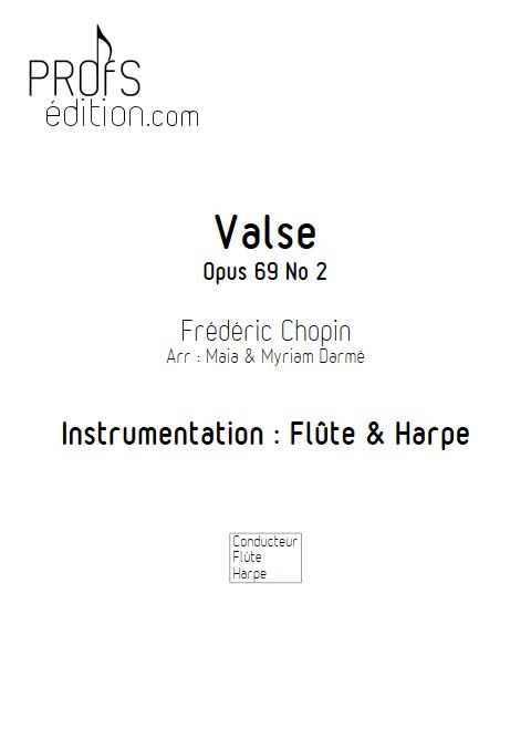 Valse Op 69 N°2 - Flûte & Harpe - CHOPIN F. - page de garde