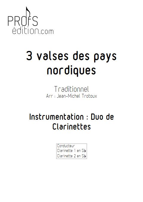 3 Valses des pays nordiques - Duo de Clarinettes - Traditionnel - page de garde