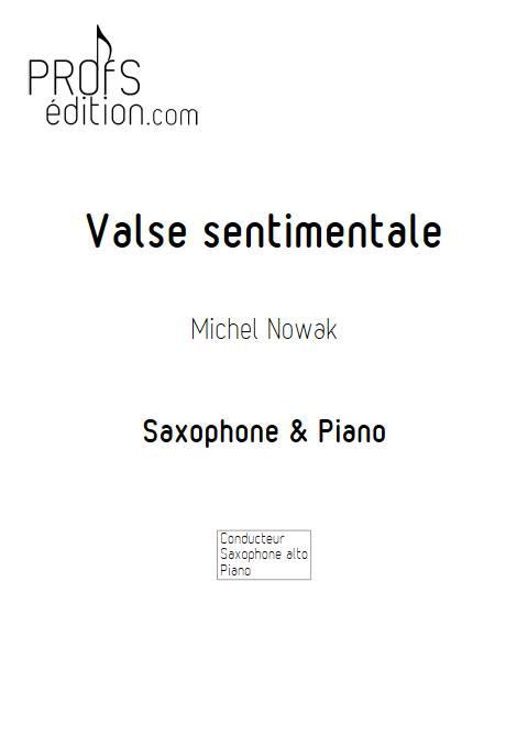 Valse sentimentale - Saxophone & Piano - NOWAK M. - page de garde