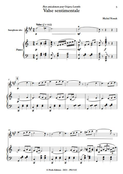 Valse sentimentale - Saxophone & Piano - NOWAK M. - app.scorescoreTitle