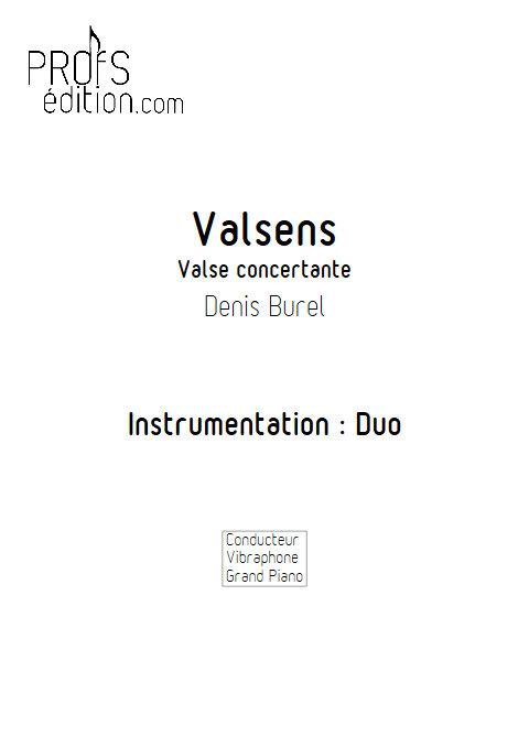 Valsens - Duo Vibraphone et Piano - BUREL D. - page de garde