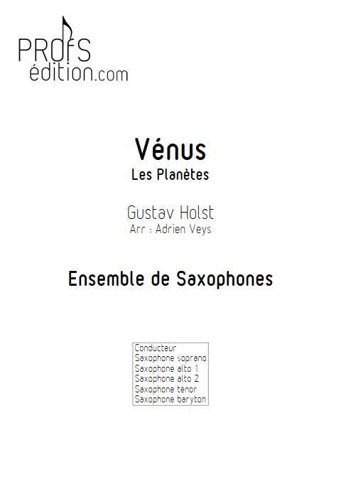 Vénus - Ensemble de Saxophones - HOLST G. - page de garde