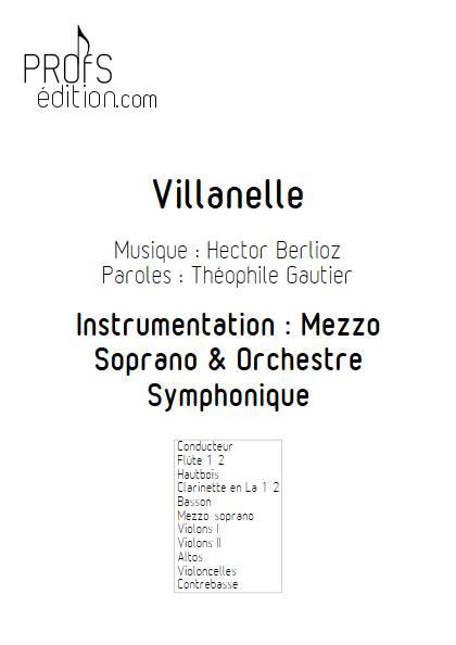 Villanelle - Chant & Orchestre Symphonique - BERLIOZ H. - page de garde