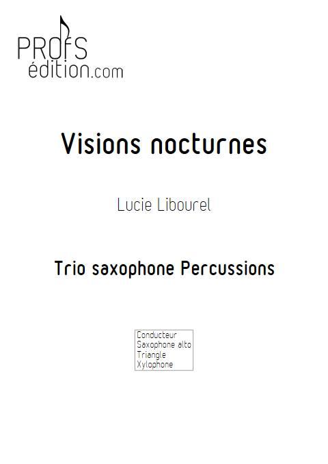 Visions nocturnes - Trio - LIBOUREL L. - page de garde
