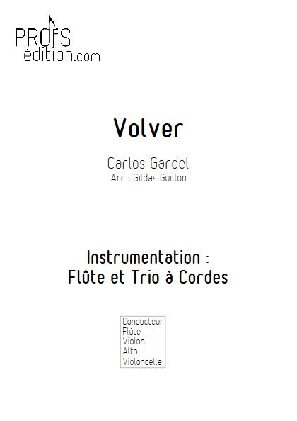 Volver - Flûte et Trio à Cordes - GARDEL C. - page de garde