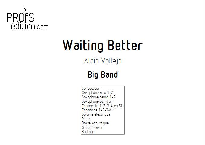 Waiting better - Big Band - VALLEJO A. - page de garde