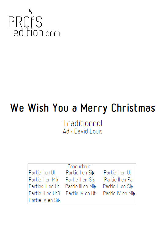 We Wish You a Merry Christmas - Ensemble Géométrie Variable - TRADITIONNEL - page de garde