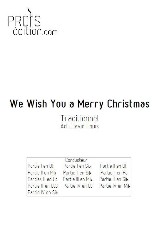 We Wish You a Merry Christmas - Ensemble Géométrie Variable - TRADITIONNEL - page de garde