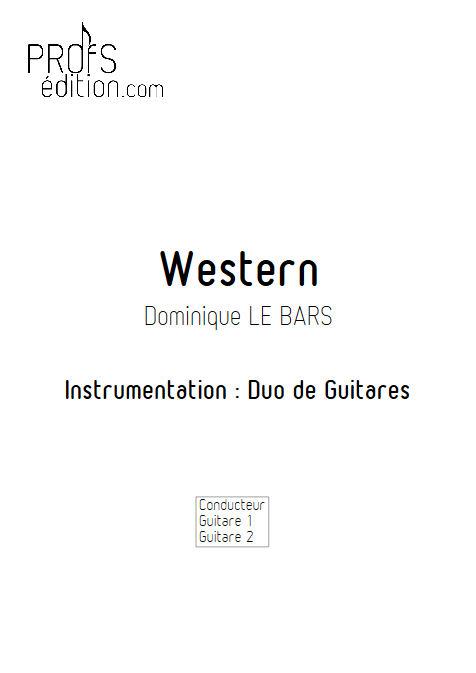 Western - Duos Guitare - LE BARS D. - page de garde