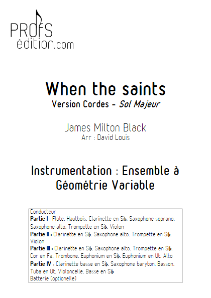 When the saints -Ensemble à Géométrie Variable - BLACK J. M. - page de garde