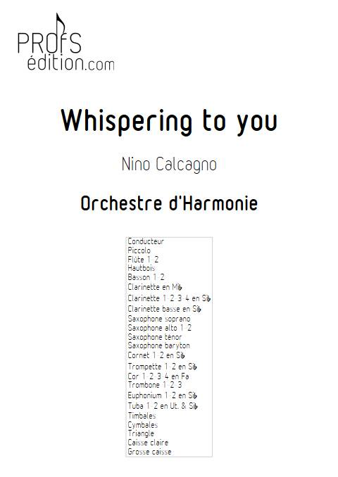 Whispering to you - Orchestre d'Harmonie - CALCAGNO N. - page de garde