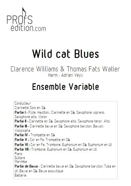 Wild cat Blues - Ensemble Variable - WILLIAMS C. & WALLER F. - page de garde