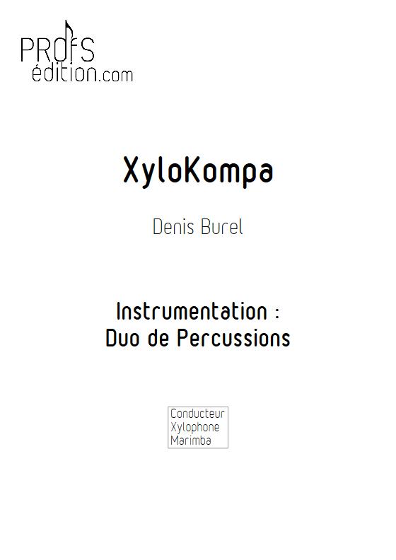 Xylo Kompa - Duo Percussions - BUREL D. - page de garde