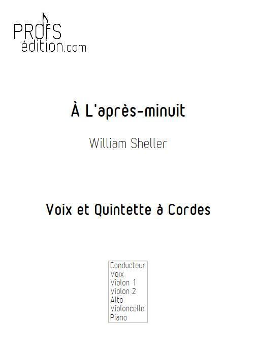 À L'après-minuit - Chant et Quintette à Cordes - SHELLER W. - page de garde