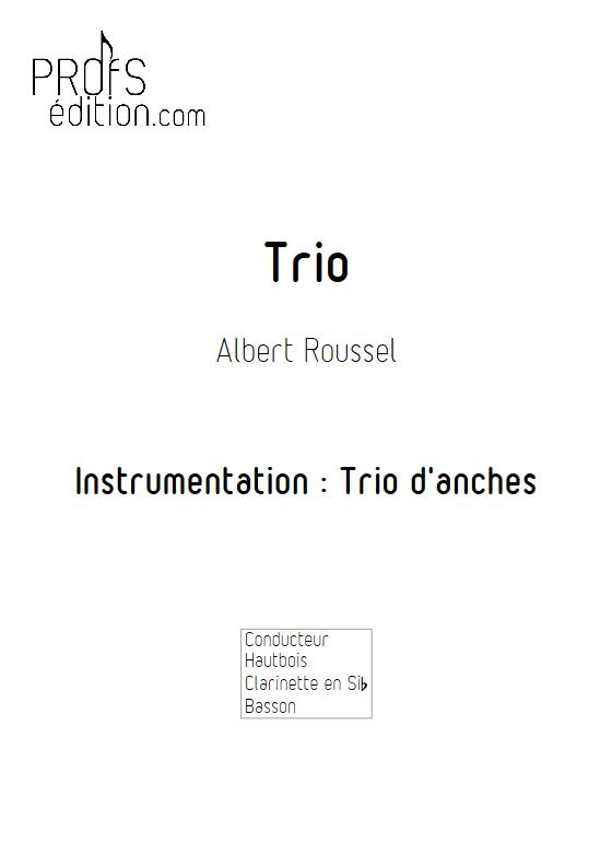 Trio - Trio d'anches - ROUSSEL A. - page de garde