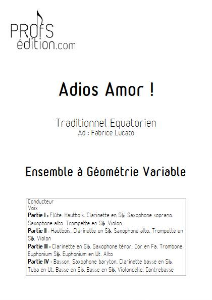 Adios amor - Ensemble Variable - TRADITIONNEL EQUATORIEN - page de garde