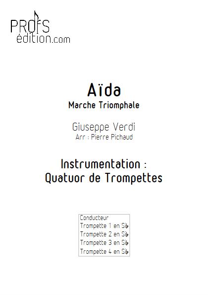 Aïda - Quatuor de Trompettes - VERDI G. - page de garde