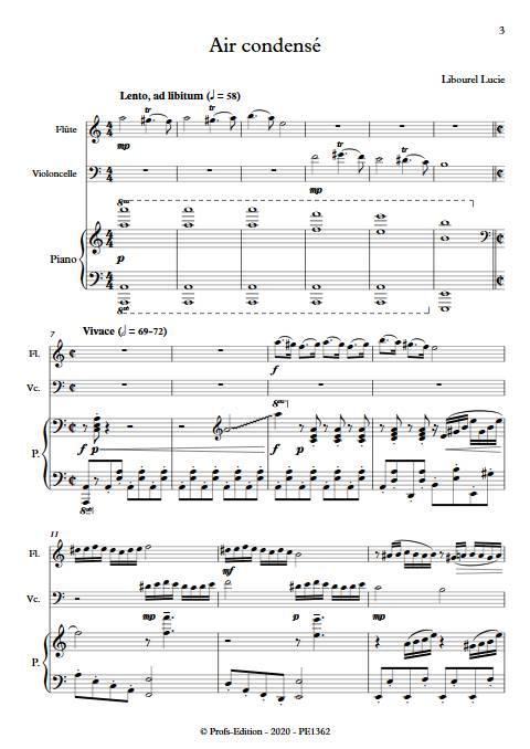 Air condensé - Trio - LIBOUREL L. - Partition