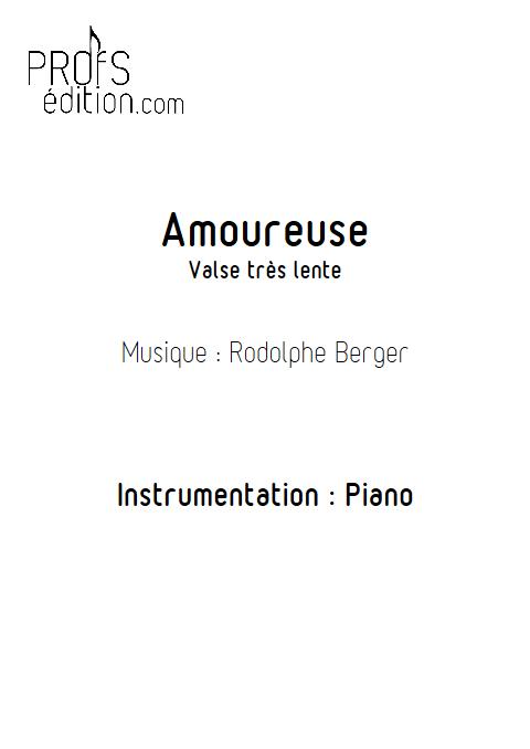 Amoureuse - Piano - BERGER R. - page de garde