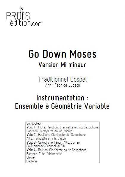 Go Down Moses - Ensemble à Géométrie Variable - GOSPEL - page de garde