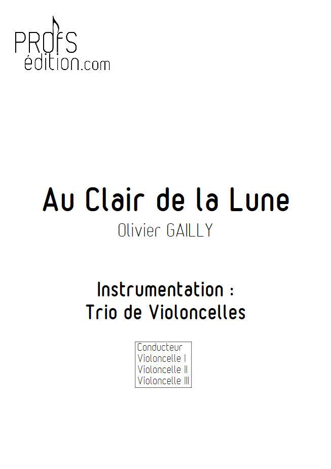 Au Claire de la Lune - Trio Violoncelles - TRADITIONNEL - page de garde