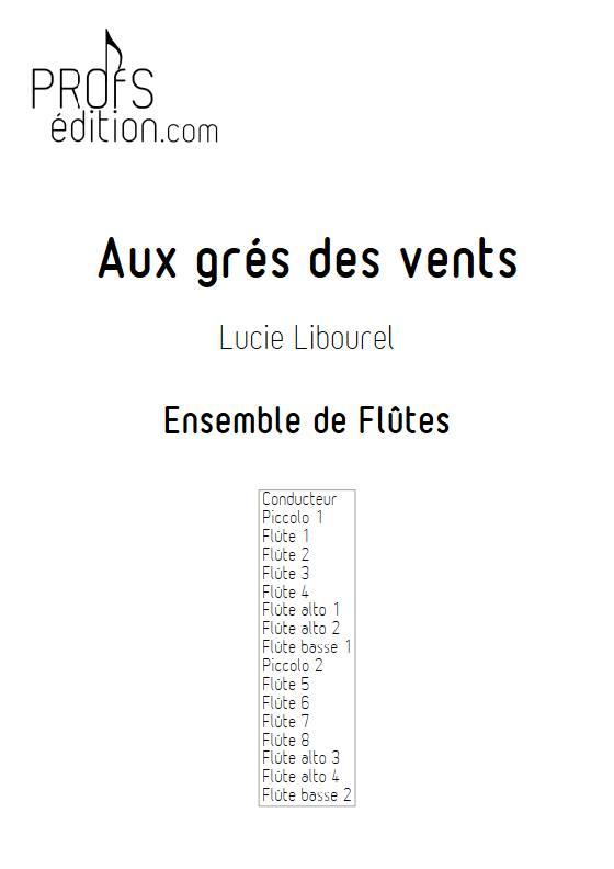 Aux grés des vents - Ensemble de Flûtes - LIBOUREL L. - page de garde