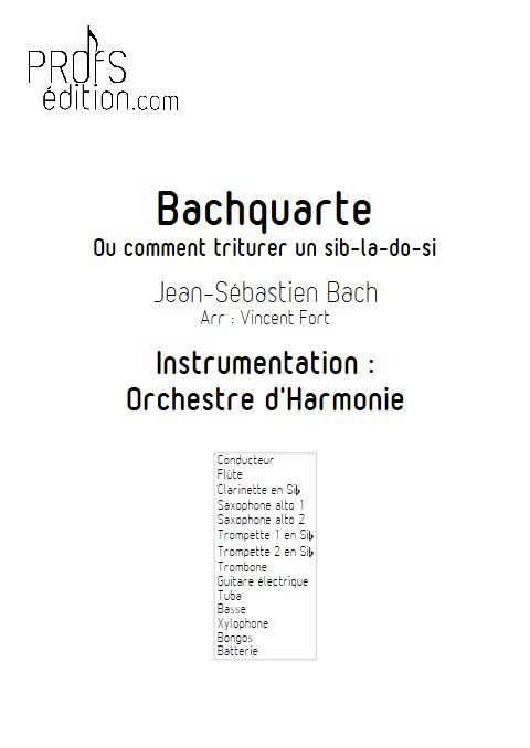 Bachquarte - Orchestre d'Harmonie - BACH J. S. - page de garde