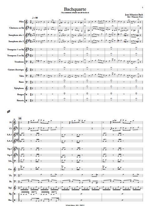 Bachquarte - Orchestre d'Harmonie - BACH J. S. - app.scorescoreTitle