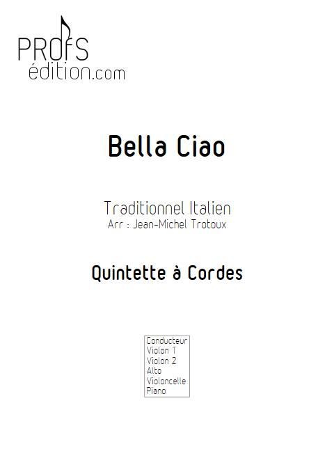 Bella Ciao - Quintette à Cordes - TRADITIONNEL ITALIEN - page de garde