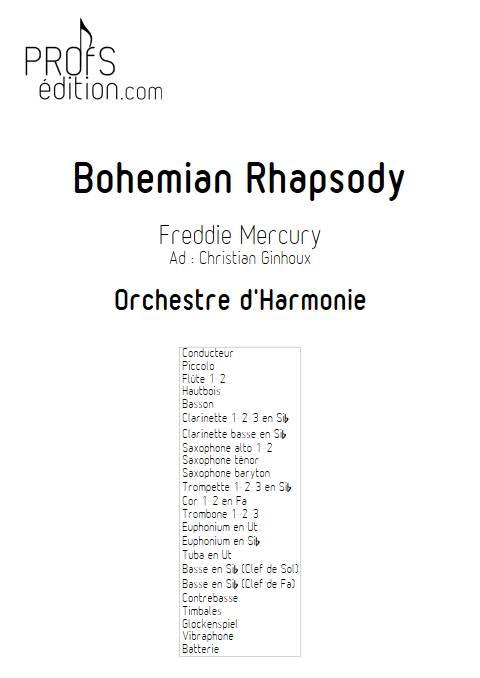 Bohemian Rhapsody - Orchestre d'Harmonie - QUEEN - page de garde