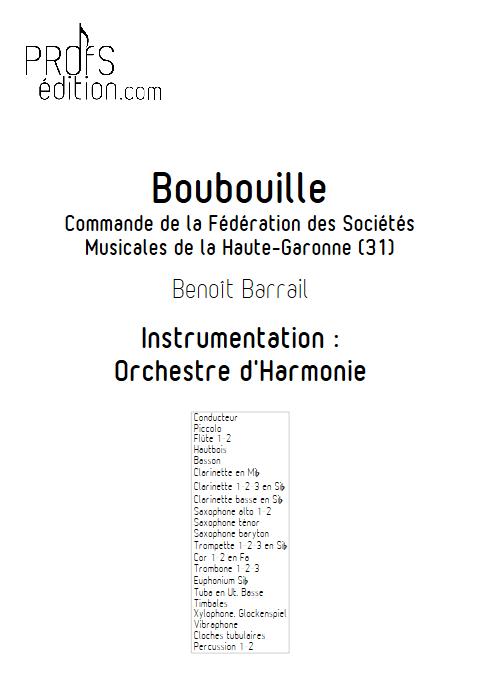Boubouille - Orchestre d'Harmonie - BARRAIL B. - page de garde
