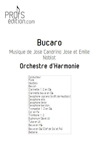 Bucaro - Orchestre d'Harmonie - NOBLOT E. - page de garde