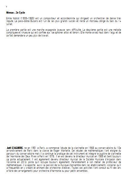 Bucaro - Orchestre d'Harmonie - NOBLOT E. - Fiche Pédagogique
