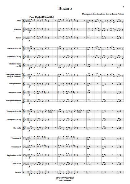 Bucaro - Orchestre d'Harmonie - NOBLOT E. - app.scorescoreTitle