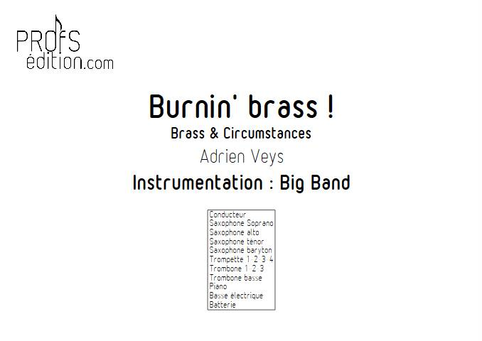 Burnin'Brass - Brass & Circumstances - Big Band - VEYS A. - page de garde