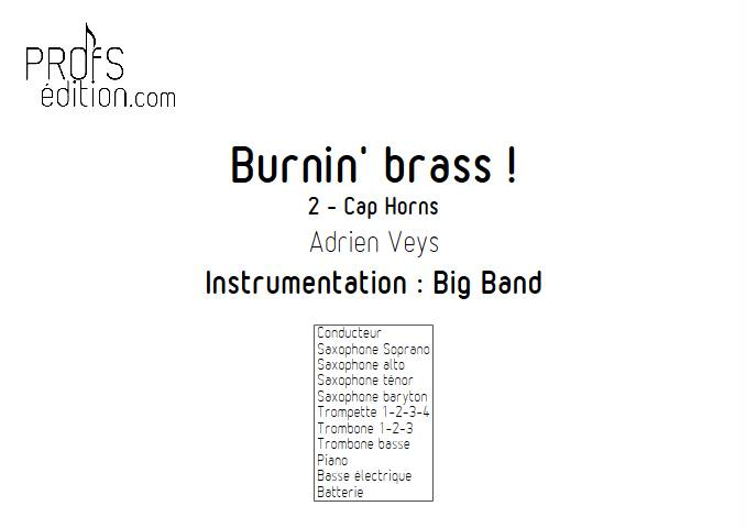 Burnin'Brass - Cap Horns - Big Band - VEYS A. - page de garde