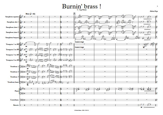 Burnin'Brass - Cap Horns - Big Band - VEYS A. - Partition