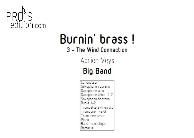 Burnin'Brass - The Wind Connection - Big Band - VEYS A. - page de garde