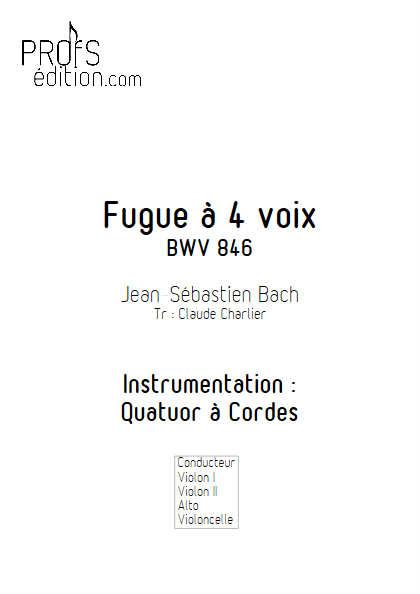 Clavier bien tempéré BWV 846 - Quatuor à Cordes - BACH J. S. - page de garde