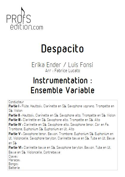 Despacito - Ensemble Variable - FONSI L. - page de garde