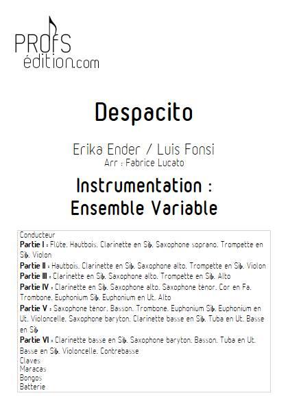 Partition Despacito Ensemble Variable Luis Fonsi