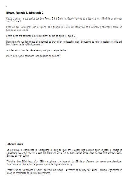 Despacito - Ensemble Variable - FONSI L. - Fiche Pédagogique