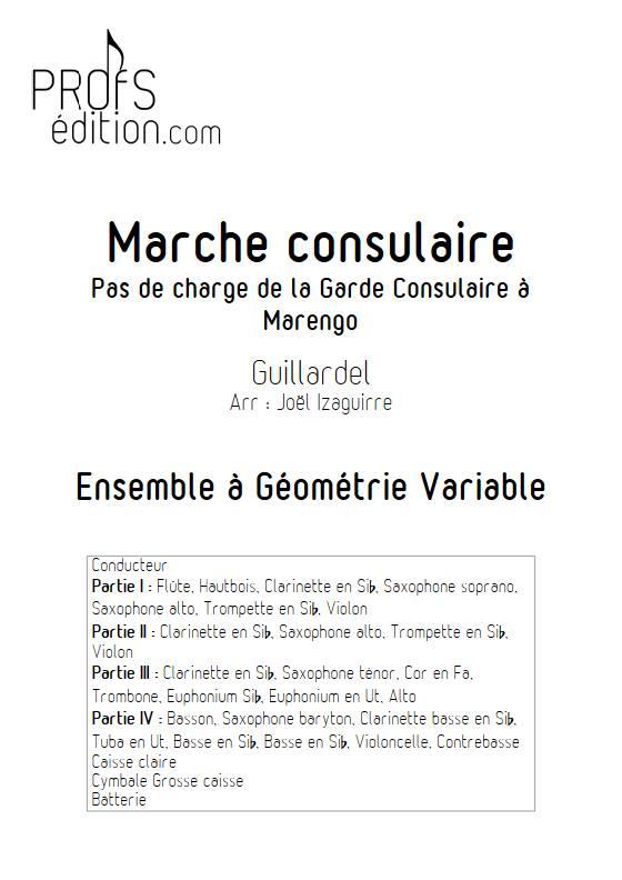 Marche consulaire- Fanfare - GUILLARDEL - page de garde