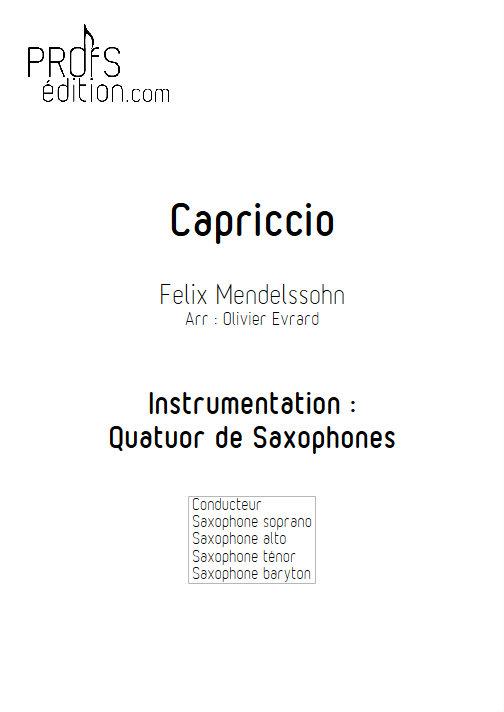 Capriccio - Quatuor de Saxophones - MENDELSSOHN F. - page de garde
