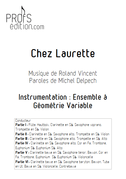 Chez Laurette - Ensemble Variable - TRADITIONNEL - page de garde