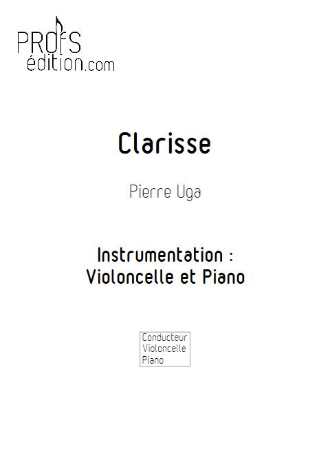 Clarisse - Violoncelle Piano - UGA P. - page de garde
