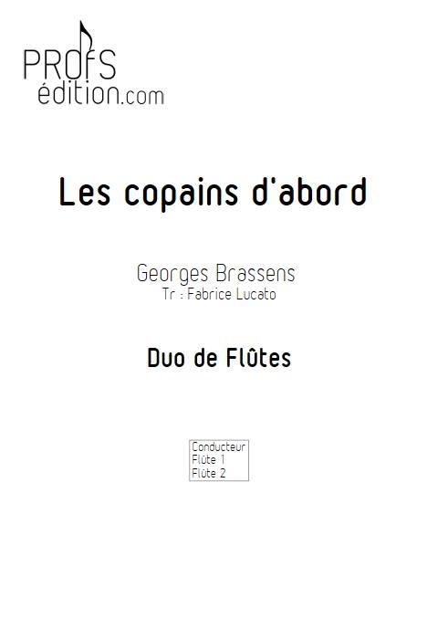 Les copains d'abord - Duo de Flûtes - BRASSENS G. - page de garde