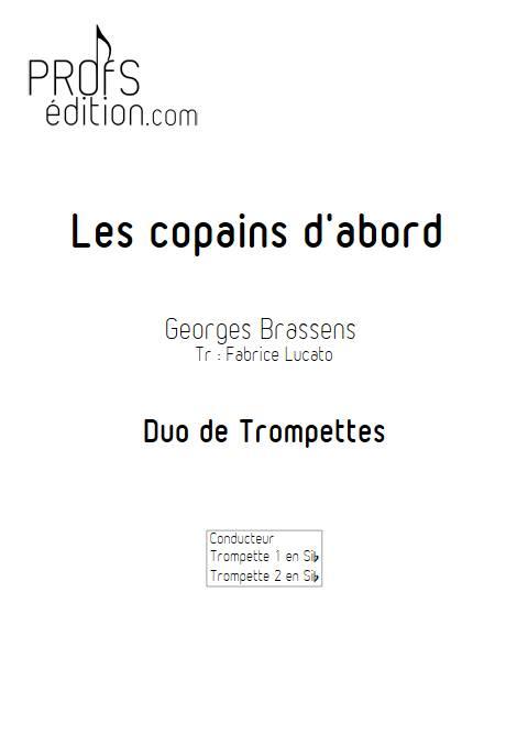 Les copains d'abord - Duo de Trompette - BRASSENS G. - page de garde